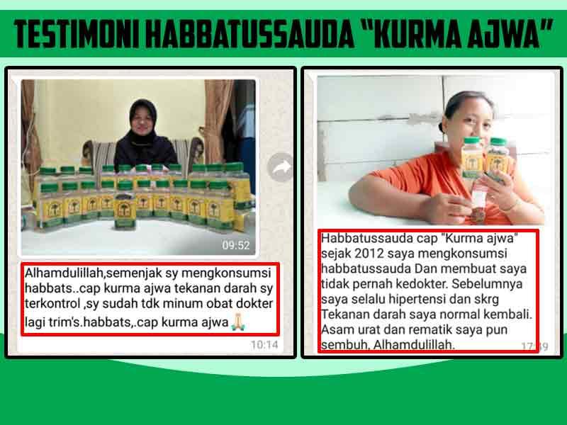 Testimoni Habbatussauda Cap Kurma Ajwa