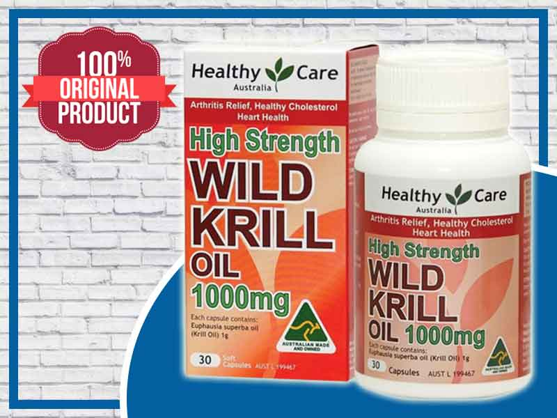 Wild Krill Oil 1000mg Healthy Care